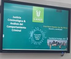 Felicitaciones a la Universidad El Bosque por ser pionera en diseñar y ofrecer un diplomado de Justicia Criminológica y Análisis del Comportamiento Criminal.